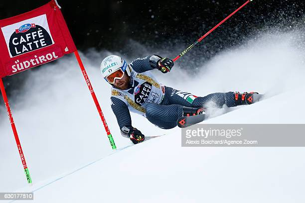 Riccardo Tonetti of Italy competes during the Audi FIS Alpine Ski World Cup Men's Giant Slalom on December 18 2016 in Alta Badia Italy