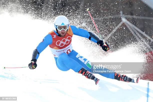 Riccardo Tonetti of Italy in action during the Alpine Skiing Men's Giant Slalom at Yongpyong Alpine Centre on February 18 2018 in Pyeongchanggun...