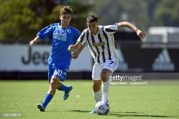 Riccardo Turicchia of Juventus during the Primavera 1 TIM match between Juventus U19 and Empoli FC U19 at Juventus Center Vinovo on May 05, 2021 in...