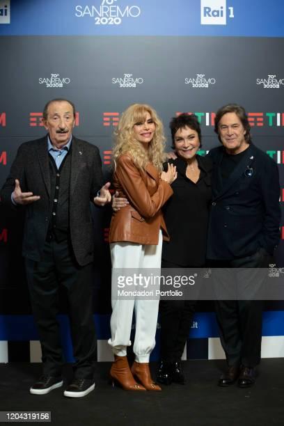 Ricchi e Poveri in the Press Room of the 70 Sanremo Music Festival Sanremo February 5th 2020