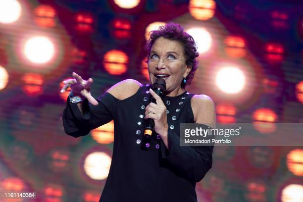 Ricchi e Poveri's singer Angela Brambati during the concert for the 20 years of Lo Zoo di 105 at the Hippodrome Milan July 8th 2019