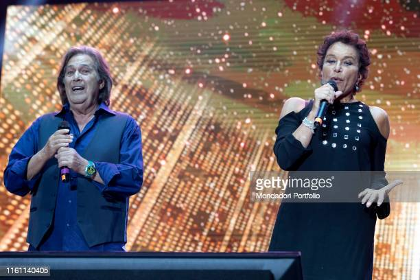 Ricchi e Poveri's singers Angela Brambati and Angelo Sotgiu during the concert for the 20 years of Lo Zoo di 105 at the Hippodrome Milan July 8th 2019