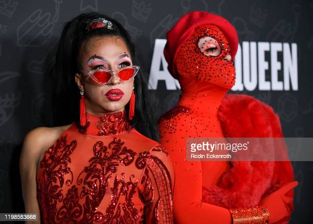 Rice and Beans attends Premiere of Netflix's AJ and the Queen Season 1 at the Egyptian Theatre on January 09 2020 in Hollywood California