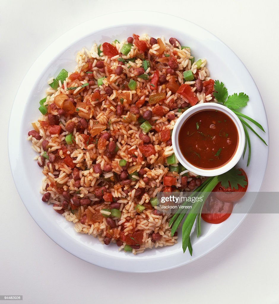 Rice and beans salad : Stock Photo