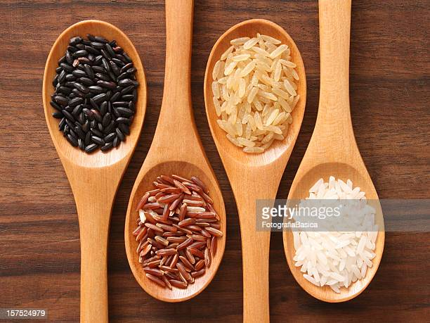 Rice and spoons