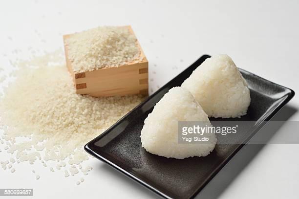 Rice balls and White rice