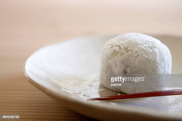 Rice cake on a plate