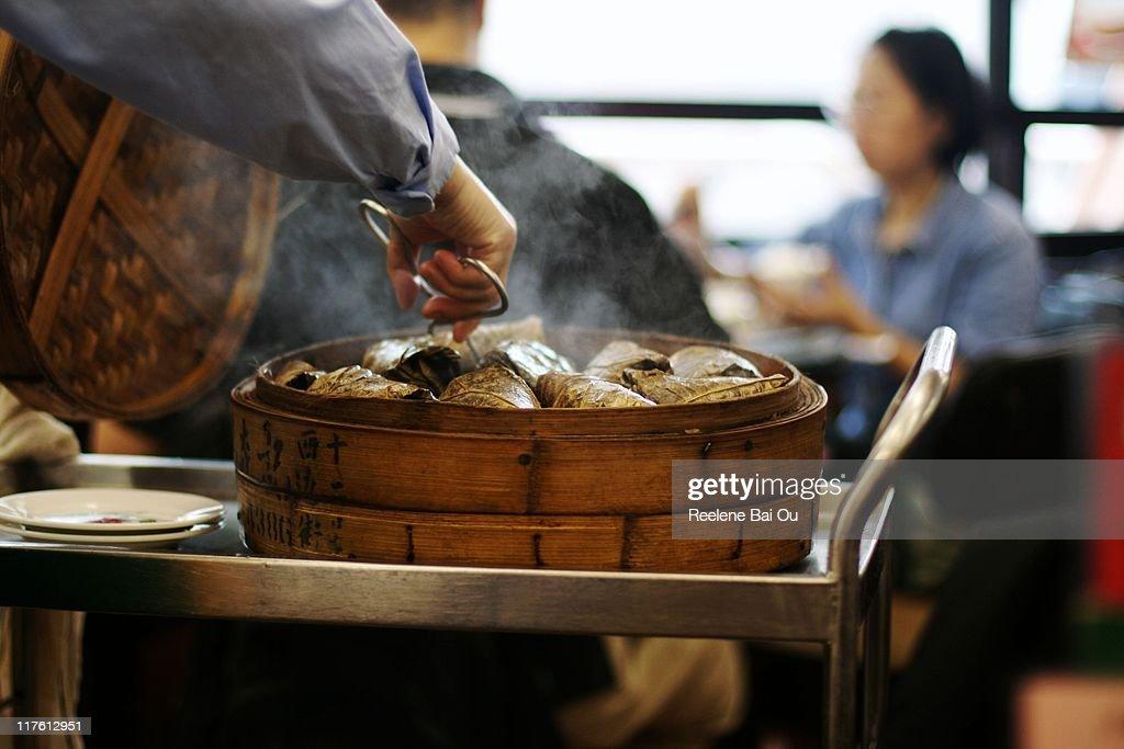 Rice chicken : Stock Photo