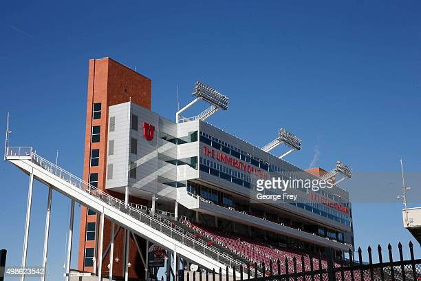 Rice Eccles Stadium during a game against the UCLA Bruins and the Utah Utes on November 21 2015 in Salt Lake City Utah