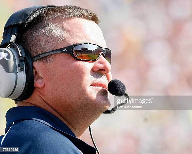 Rice Head Coach Todd Graham on September 23 2006 in Tallahassee Florida The rated Florida State Seminole defeated Rice 55 to 7