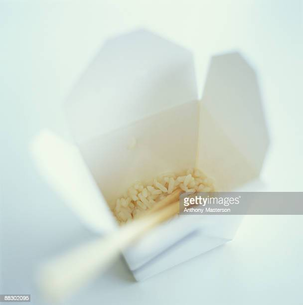 Rice in Chinese take out box