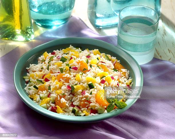 Rice pilaf with pineapple and oranges