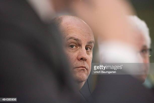 Rice Powell, CEO Fresenius Medical Care, during the Annual Press Conference in Bad Homburg, on February 25, 2015 in Bad Homburg, Germany.