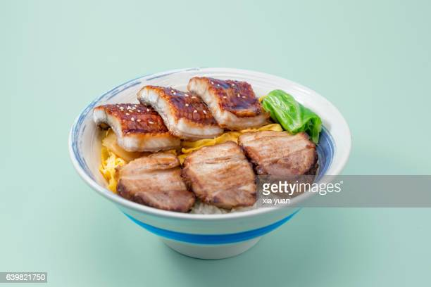 Rice With Grilled Eel And Char Siu