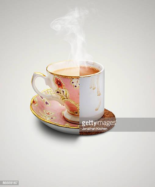 Rich and poor man tea cups