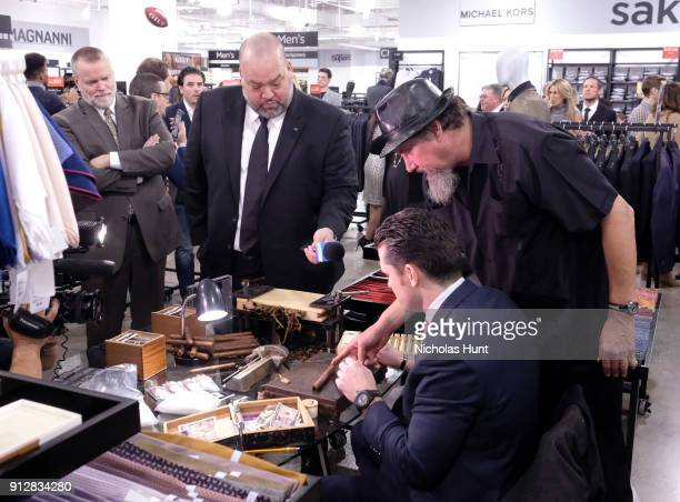 Rich Big Daddy Salgado and Pete Hegseth attend Giltcom's Big Game Celebration benefiting the Challenged Athletes Foundation at Saks OFF 5TH on...