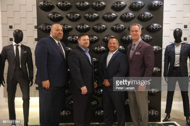 Rich 'Big Daddy' Salgado Daryl Johnston and guests attend the Fashion Football Event at Saks Off 5TH> on April 25 2018 in Grand Prairie Texas