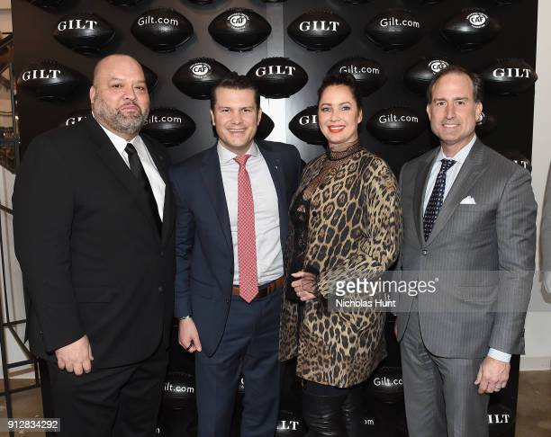 Rich Big Daddy Salgado Pete Hegseth Fay Salgado and Tom Ott attend Giltcom's Big Game Celebration benefiting the Challenged Athletes Foundation at...