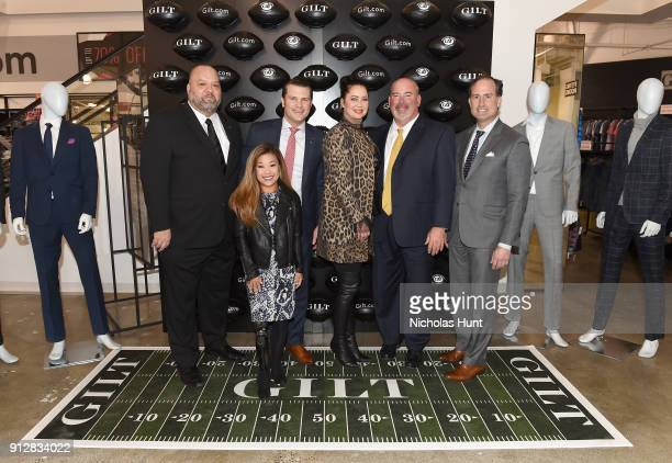 Rich Big Daddy Salgado Scout Bassett Pete Hegseth Fay Salgado Don Weidenfeld and Tom Ott attend Giltcom's Big Game Celebration benefiting the...