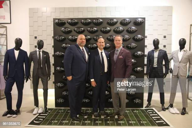 Rich 'Big Daddy' Salgado Tom Ott and Daryl Johnston attend the Fashion Football Event at Saks Off 5TH> on April 25 2018 in Grand Prairie Texas