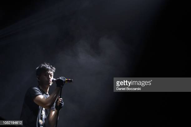 Rich Brian performs during the 88rising 88 Degrees Rising Tour at Aragon Ballroom on October 14 2018 in Chicago Illinois