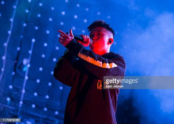 Rich Brian performs on stage at Metro City on August 29 2019 in Perth Australia