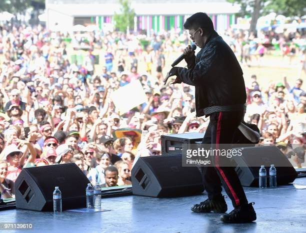 Rich Brian performs on Which Stage during day 4 of the 2018 Bonnaroo Arts And Music Festival on June 10 2018 in Manchester Tennessee