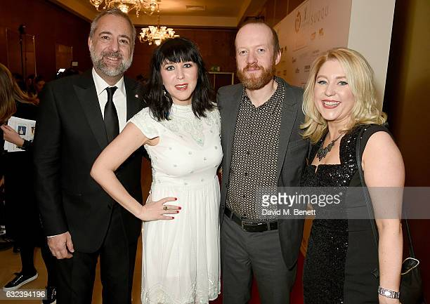Rich Cline Alice Lowe Steve Oram and Anna Smith attend The London Critics' Circle Film Awards at the May Fair Hotel on January 22 2017 in London...
