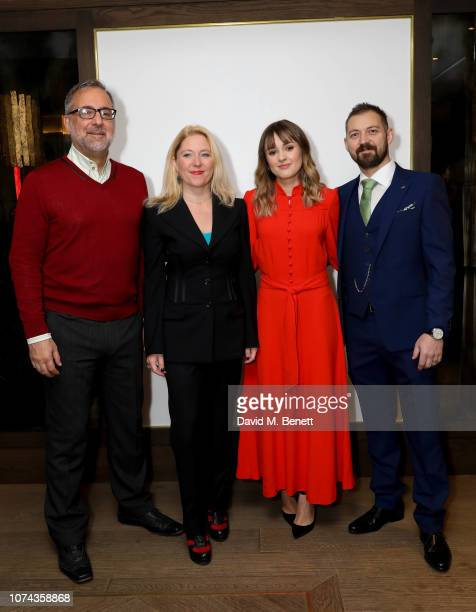 Rich Cline Anna Smith Molly Wright and Lee Shone attend The London Critics' Circle Film Awards 2019 nominations announcement at The May Fair Hotel on...