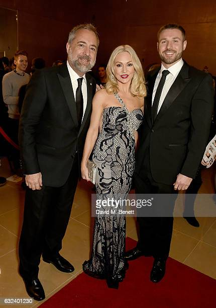 Rich Cline Ben Cohen and Kristina Rihanoff attend The London Critics' Circle Film Awards at the May Fair Hotel on January 22 2017 in London England