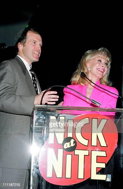 Rich Cronin and Barbara Eden during 1995 Nick at Nite Upfront at Loews Hotel in Santa Monica California United States