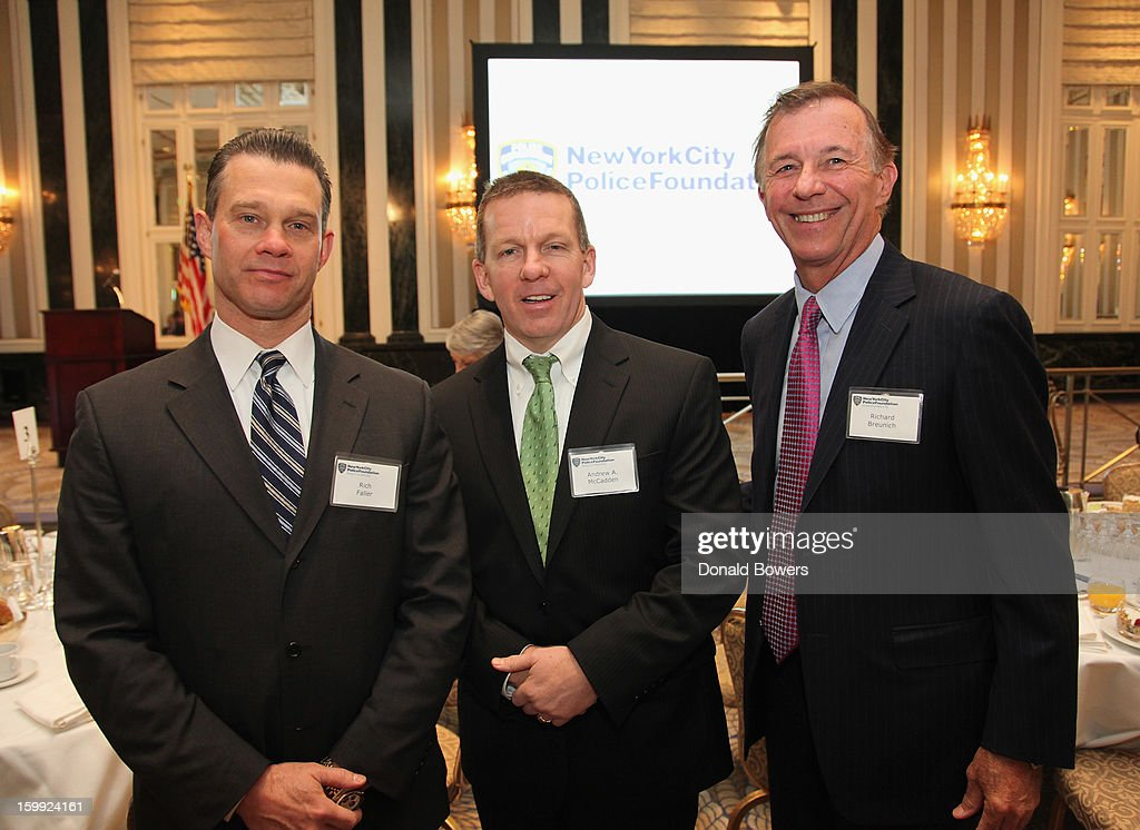 Rich Faller, Andy McCadden and Rich Breunich attend the State of the NYPD address during The N.Y.C Police Foundation Breakfast on January 23, 2013 at The Waldorf-Astoria Hotel in New York City.