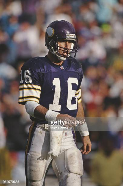 Rich Gannon Quarterback for the Minnesota Vikings during the National Football Conference East game against the Phoenix Cardinals on 27 October 1991...