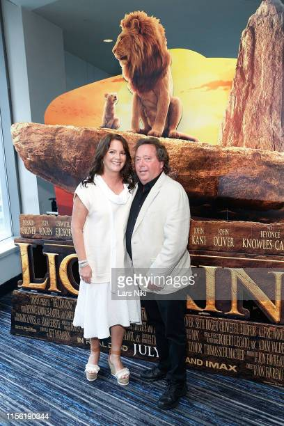 Rich Gelfond and Peggy Gelfond attend the IMAX private screening for the movie The Lion King at AMC Loews Lincoln Square theatre on July 17 2019 in...