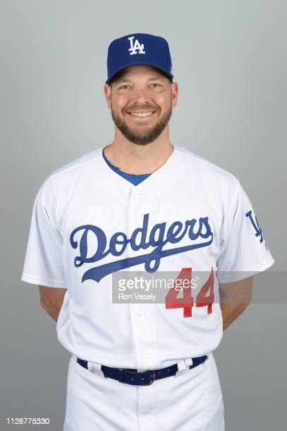 Rich Hill of the Los Angeles Dodgers poses during Photo Day on Thursday February 20 2019 at Camelback Ranch in Glendale Arizona
