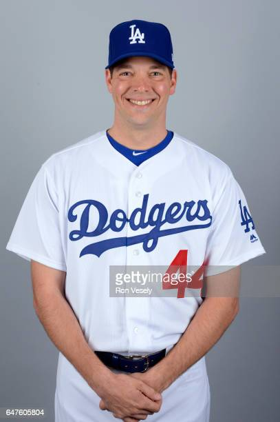 Rich Hill of the Los Angeles Dodgers poses during Photo Day on Friday February 24 2017 at Camelback Ranch in Glendale Arizona