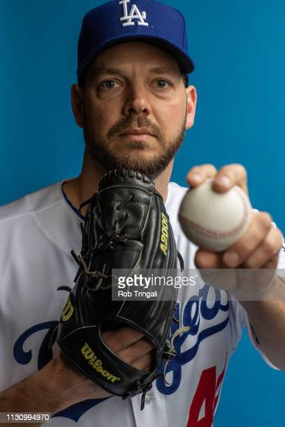 Rich Hill of the Los Angeles Dodgers poses for a portrait during photo day at Camelback Ranch on February 20 2019 in Glendale Arizona