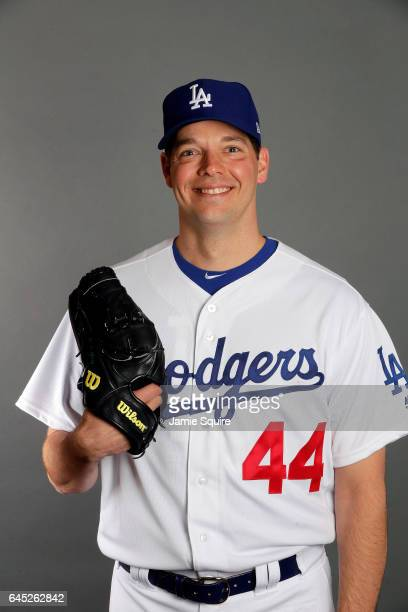 Rich Hill of the Los Angeles Dodgers poses on Los Angeles Dodgers Photo Day during Sprint Training on February 24 2017 in Glendale Arizona