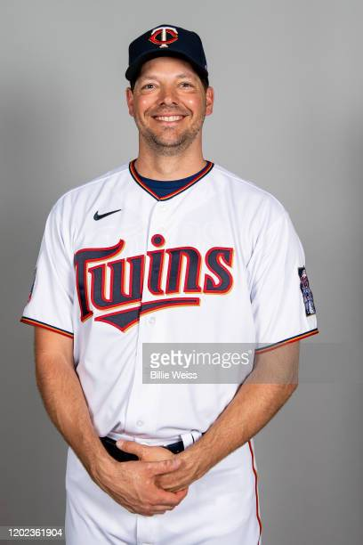 Rich Hill of the Minnesota Twins poses during Photo Day on Thursday, February 20, 2020 at CenturyLink Sports Complex in Fort Myers, Florida.