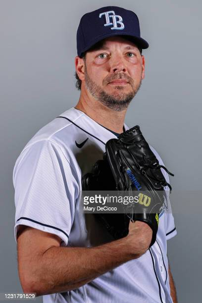 Rich Hill of the Tampa Bay Rays poses during Photo Day on Monday, February 22, 2021 at Charlotte Sports Park in Port Charlotte, Florida.