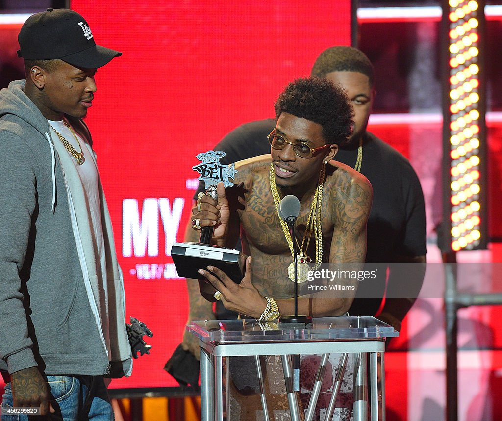 Rich Homie Quan onstage at the BET Hip Hop awards at Boisfeuillet Jones Atlanta Civic Center on September 20, 2014 in Atlanta, Georgia.