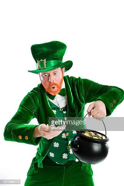 rich leprechaun - leprechaun stock pictures, royalty-free photos & images