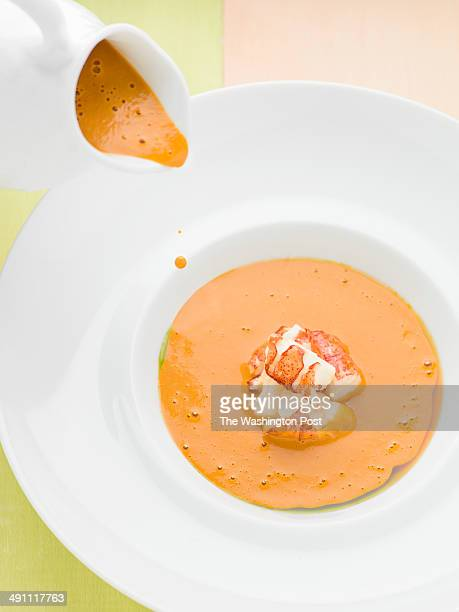 Rich lobster soup with curry was photographed on Monday April 21 2014 at Charleston restaurant in Baltimore MD