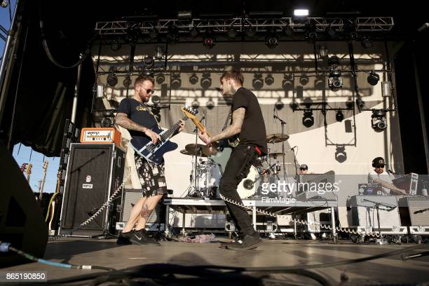 Rich Meyer and Johnny Stevens of Highly Suspect perform at Echo Stage during day 3 of the 2017 Lost Lake Festival on October 22 2017 in Phoenix...