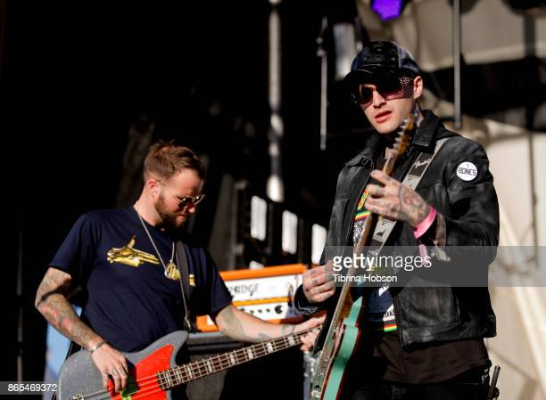 Rich Meyer and Johnny Stevens of Highly Suspect performs at the Lost Lake Music Festival on October 22 2017 in Phoenix Arizona
