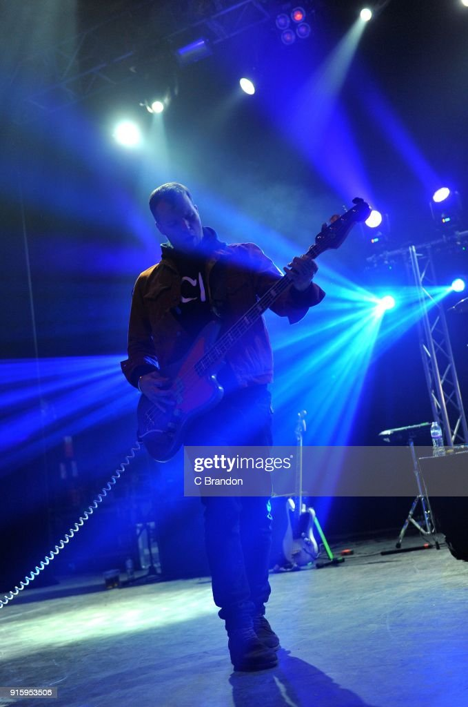 Rich Meyer of Highly Suspect performs on stage at the Forum on February 8, 2018 in London, England.