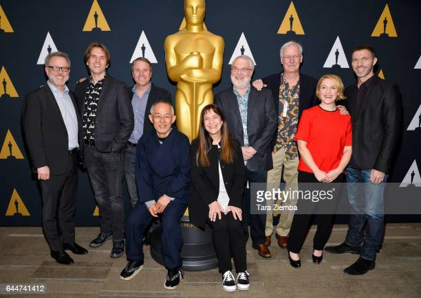 Rich Moore Byron Howard Clark Spencer Toshio Suzuki Osnat Shurer Ron Clements John Musker Arianne Sutner and Travis Knight arrive to the 89th Annual...