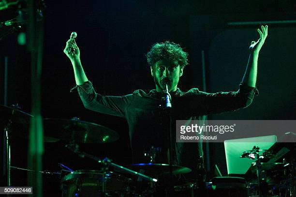 Rich O'Flynn of All We Are performs on stage at Queen's Hall on February 8 2016 in Edinburgh Scotland