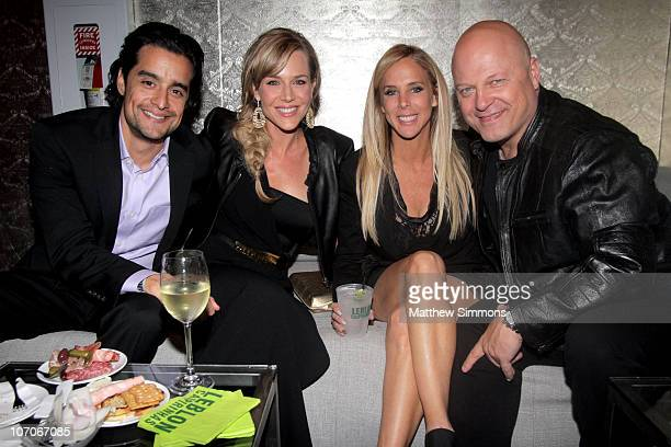 Rich Orosco Julie Benz Michelle Moran and Michael Chiklis attend the American Music Awards after party at The Conga Room at LA Live on November 22...