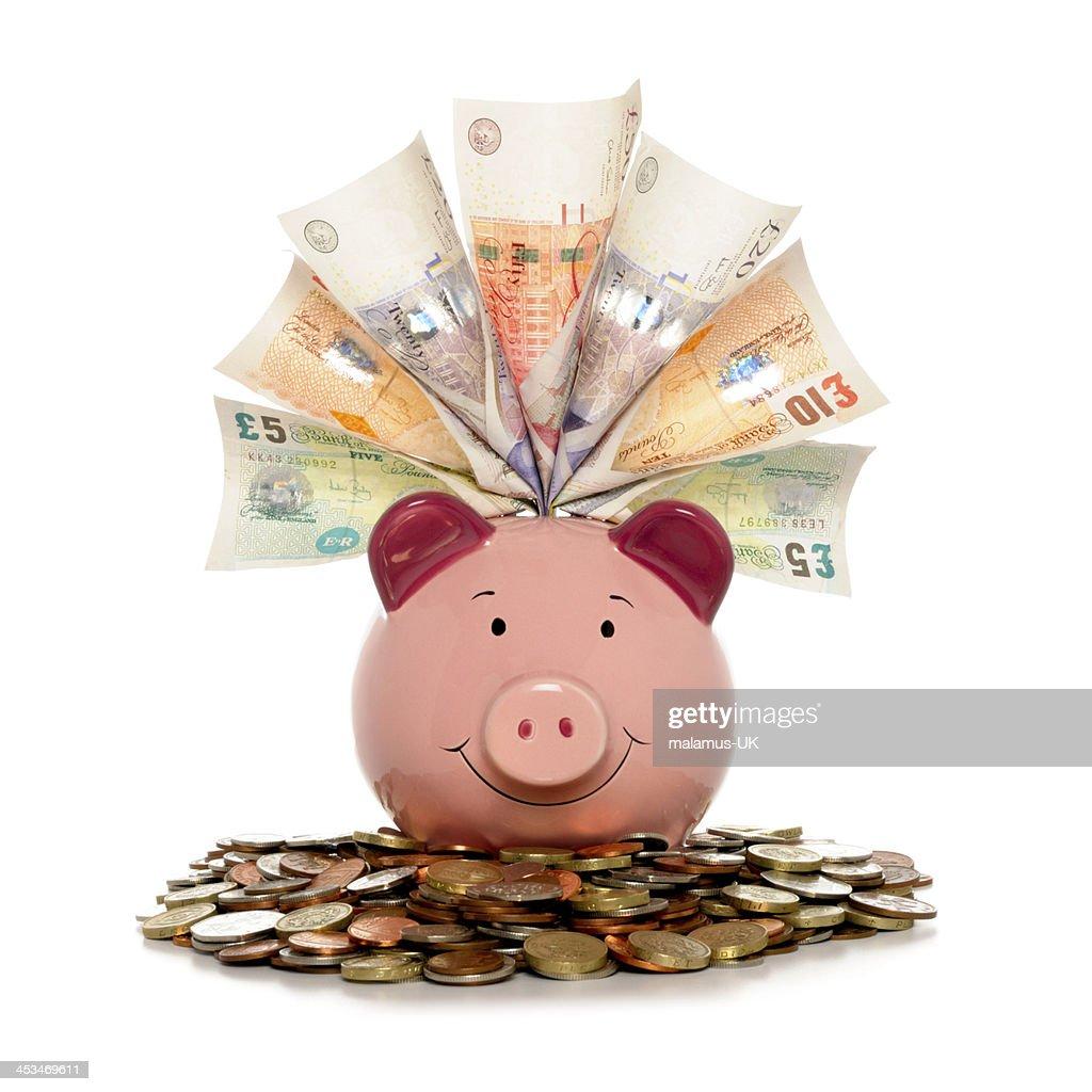 Rich Piggy bank : Stock Photo